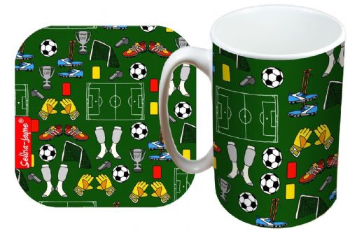 Selina-Jayne Football Limited Edition Designer Mug and Coaster Gift Set